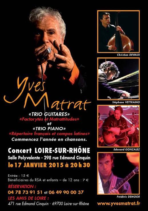 Affiche concert Yves Matrat