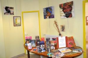 Espace exposition et livres autour de l'inde