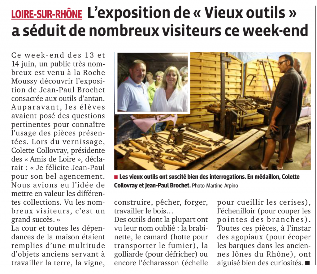 Exposition d'outils anciens
